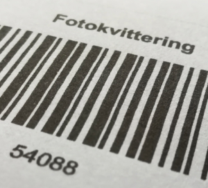 Pasfoto kvitering til Rudersdal kommune. Kørekortkvitering